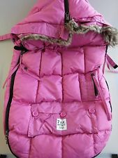 7AM Enfant Le Sac Igloo LS500 Stroller Car Seat Blanket Bright PINK Small 0-6 mo