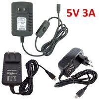 EG_ 5V 3A USB AC Adapter DC Wall Power Supply for Raspberry Pi /Switch Delightfu