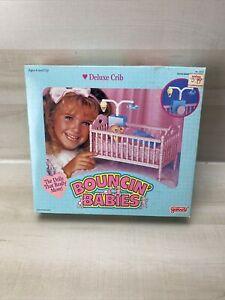 VTG UNOPENED GALOOB 1980s Bouncin Babies Deluxe Crib Bumper Vintage Toy Bed NEW