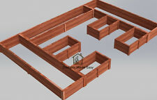 Easy DIY Raised Garden Bed Frame - Design Plans Instructions for Woodworking 05