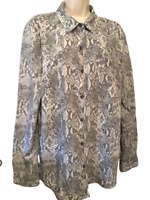 Time & Tru Women's Blouse Size XL Long Sleeve Button Down Shirt