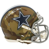 CEEDEE LAMB Autographed Dallas Cowboys Speed Camo Mini Helmet FANATICS