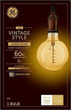 GE 36538 Vintage Style Spiral Filament LED Light Bulb, 5 Watts