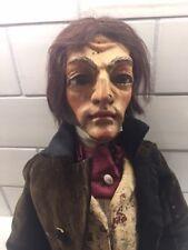 "Vintage Unique  MARIONETTE Charles Dickens in brown velvet suit 25"""