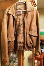 Boulder Ridge Men's Leather Bomber Jacket - Size Men's 44