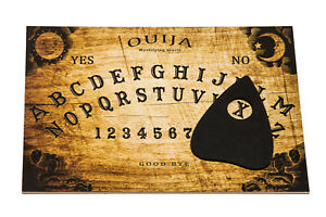 Classic Wooden Ouija Board for Spirit Hunt with Planchette and Instruction