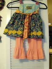 Matilda Jane Outfit Size 2 Pants & Top in Paisley colors