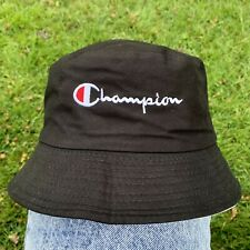 Black & Beige Reversible CHAMPION Bucket Hat - NEW - Genuine
