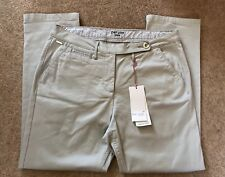 MARKS AND SPENCER PER UNA CROPPED CHINOS GREY SILVER SIZE 18 BRAND NEW