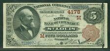 "$5.00 National Bank Note ""Brownback"" St. Louis Fr.#474 VF/XF"