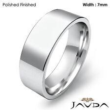 Cut Ring 7mm Platinum 12.9gm Sz 7-7.75 Wedding Band Women Comfort Fit Flat Pipe