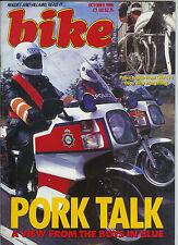 Bike Oct 1986  Moto Guzzi Le Mans IV , GSX1100 CBR600F  POLICE
