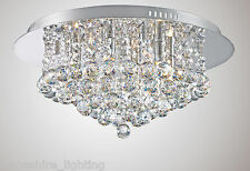 Stunning Flush Ceiling Light 6 Light Adorned With Crystal Droppers 6 x 40W