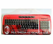 TECHMADE VKL930 TASTIERA KEYBOARD USB MULTIMEDIALE UFFICIALE AC MILAN