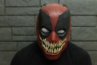Deadpool Venom Deadvenom Mask Crossover Halloween Spider Man Cosplay Costume