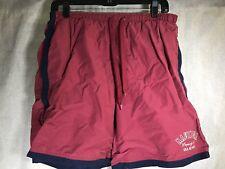 Vintage 90's Nautica M Medium Swim Trunks Shorts Red, Navy Blue Mesh Lined  Mens