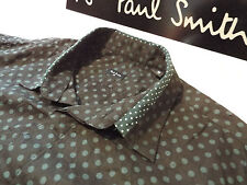 """PAUL SMITH Mens Shirt 🌍 Size M (CHEST 38"""") 🌎 RRP £95+🌏 CONTRASTING POLKA DOTS"""