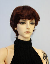 """1/3 bjd 9-10"""" doll head red brown synthetic mohair wig Soom Pullip Taeyan 28053"""