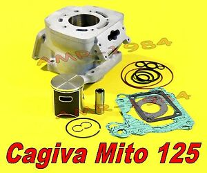 CYLINDER KIT CAGIVA 125 MITO 2000 MITAKA NIKASIL with GRAPHED RACING PISTON