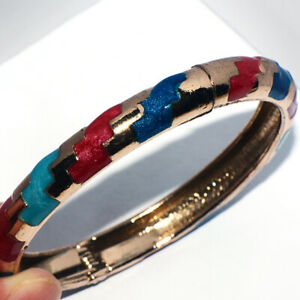 Vintage Womens Woman Open Bangle Bracelet Cuff Bracelets Gold Jewelry Dia. 70mm
