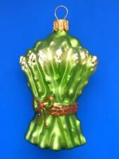 ASPARAGUS EUROPEAN BLOWN GLASS CHRISTMAS TREE ORNAMENT FOOD SPARGEL