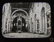 Glass Magic Lantern Slide ROME CHURCH OF ST JOHN INTERIOR C1900 ROMA ITALY