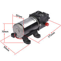 New DC 12V 100W 8L/min Micro Diaphragm High Pressure Water Pump Automatic Switch