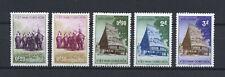 1957 South Vietnam Stamps Hunters on Elephants Sc # 63-67 MNH / VF