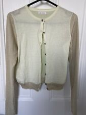 Just in Case Belgium Metallic Knit Button Down V Neck Cardigan Size 40 UK 10
