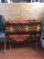 "Vintage Beaver State Pendleton Woolen Mills Chief Joseph Print Blanket 80x60"""