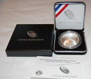 2014 Baseball Hall of Fame  Silver Dollar