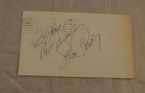 Vintage 1970s Signed Postcard Steve Garvey Rare To Jerry NO COA