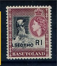 Lesotho R1 opt on Basutoland QE 1966 with  LSEOTHO Variety Unmounted Mint