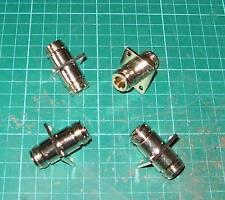 ONE N type Female to Female bulkhead 4 HOLE fitting 50 ohm TOP QUALITY 16mm