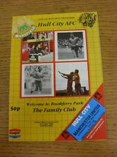 07/10/1987 Hull City v Manchester United [Football League Cup] (Team Changes). T