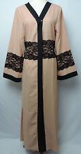 Abaya Robe Cardigan Kimono Maxi Dress Muslim Hijab Modest Overgarment Nude Pink