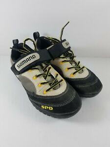 Shimano SPD Womans Cycling Shoes Size US 6 Black Tan Suede Bike SH-M037W 2-Bolt
