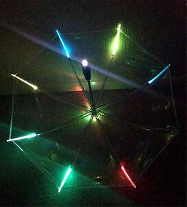 LED Umbrella - Multi Function Colour Changing