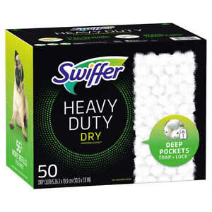 Swiffer 50 Dry Mopping Refill Cloths Heavy Duty Dry Sweeping Pad Refills
