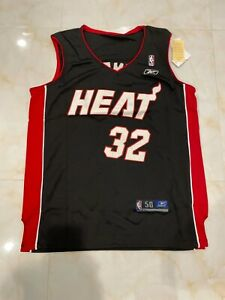 Miami Heats Shaquille O'Neal Basketball Mens Jersey minor defects Black