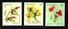 GOLDEN LADY'S SLIPPER, RHODODENDRON, POPPY FLOWERS (3) MNH
