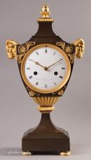 Antike Empire Pendule Kaminuhr/Mantel Clock burnished Bronze Tischuhr RARE