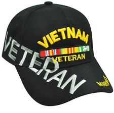 Vietnam Veteran Marines Military Hat Cap  USA Soldiers Black Support US