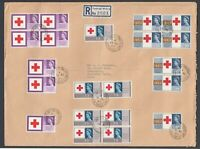 Rare Great Britain GB Red Cross Centenary Large Registered First Day Cover 1963