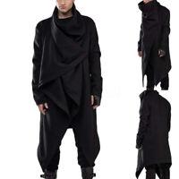 Vintage Men's Hooded Jacket Coat Goth Gothic Punk Sweatshirt Long Cardigan Coat