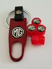 MG Plastic Valve DUST CAPS Keyring Keychain Spanner all Models Red GS ZS MGF TF