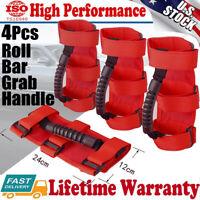 4 Pack Roll Bar Grab Handle Grip Handles red for Jeep Wrangler CJ YJ TJ JK JL JT