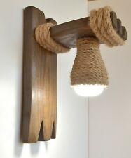 Wooden sconce, wall light, lamp wall wooden, bedroom lamp, wooden fixture