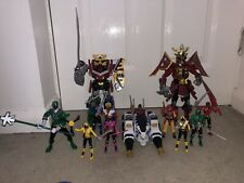 Power Rangers Samuri Megazord Action Figure Weapons Vehicle Bundle