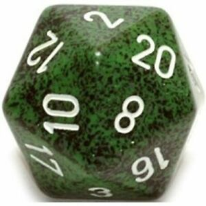 RECON Highly Collectible Excellent Quality Durable D20 Dice Speckled (34 mm)